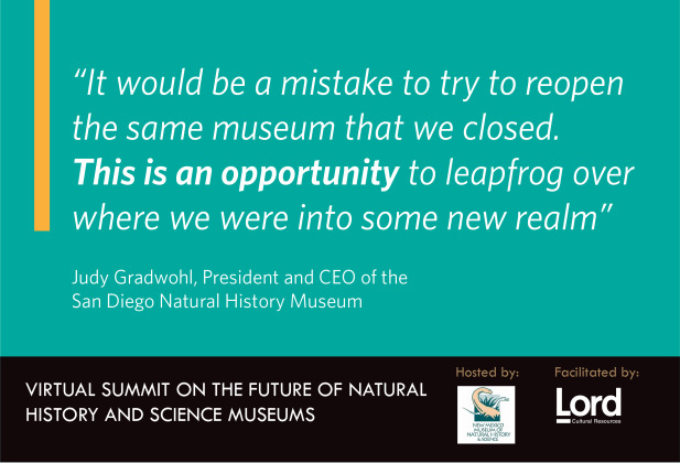 Virtual Summit Future of Science Museums quote